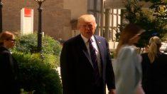 """[영상] 美 북한 공격할 지 묻는 질문에 트럼프, """"두고보면 알 것"""""""