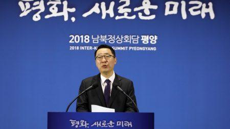 """청와대 """"남북정상 오늘 합의, 실질적 종전 선언"""""""