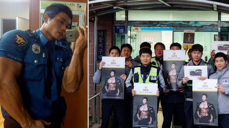 """""""난리 치던 취객도 웃으며 악수 청해"""" 한 경찰관의 이유 있는 화보 촬영"""