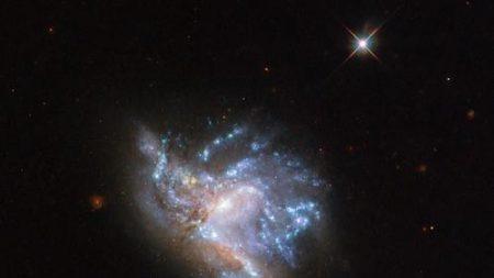 '슬기롭게' 합체 중인 2억3천만 광년 밖 은하 사진 공개