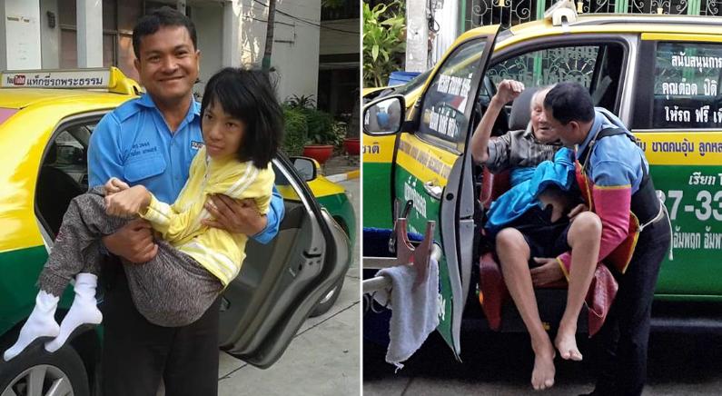 무일푼이었던 남성, 이제 가난한 사람을 도와주는 택시기사가 되다