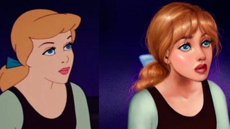 2D 디즈니 만화 캐릭터에 '숨' 불어넣은 일러스트레이트 작품