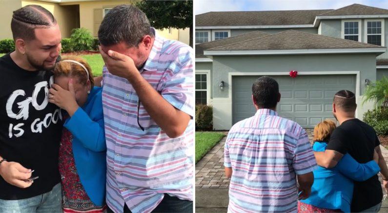 유튜버로 성공한 아들, 고생한 부모에게 새 집 깜짝 선물