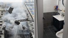'불나면 화장실로' 세계 최초로 개발한 신개념 화재 대피소