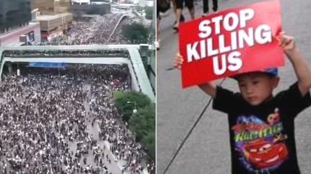 민주주의 향한 홍콩시민 셋 중 하나 참가한 시위에 '백기' 든 홍콩 정부