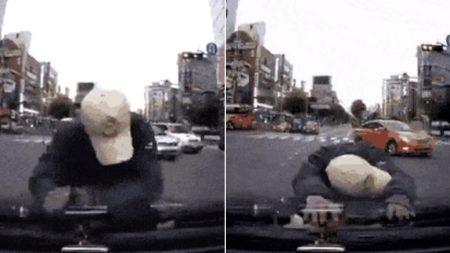 너무 어이없어서 빵 터진 운전자가 공개한 '보험사기단' 블랙박스 영상