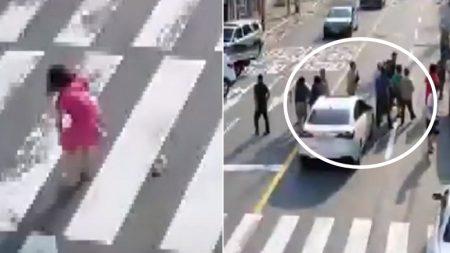 차량에 깔린 초등학생이 비명 지르자 부산 시민들이 우르르 달려왔다 (영상)