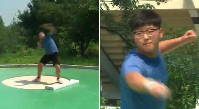 시작 1년만에 한국 초등부 기록 가볍게 경신한 '투포환 신동'