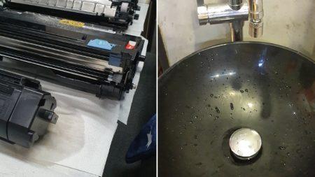 인쇄물에 줄 그어져 나오자 '프린터' 통째로 물에 씻은 직원