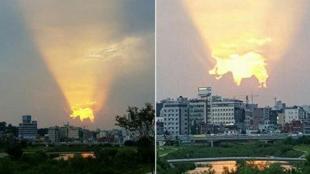 """""""하늘이 힘내라고 행운을 불러준다는 '골드피그' 구름을 띄워줬어요"""""""