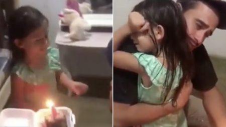 자기 생일날, 밤늦게 '케이크 한 조각' 사들고 퇴근한 아빠 꼭 안아준 어린 딸