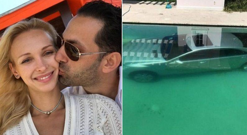 남친에게 일방적으로 차이고 분노해 '1억짜리 벤츠' 수영장에 빠뜨린 여성