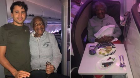 무릎 수술받은 88세 할머니 위해 비행기서 자신의 '일등석' 양보한 청년
