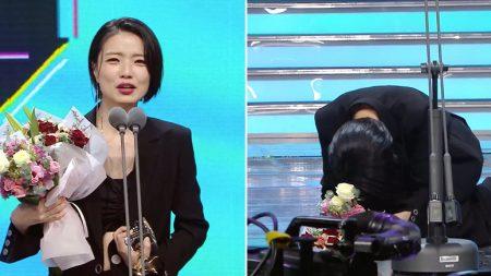 'MBC 연예대상'에서 수상한 안영미가 '송은이·김숙'에 큰절한 이유 (영상)