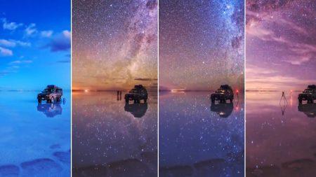 우유니 소금 사막에 간 당신이 단 하루 만에 볼 수 있는 풍경은 이렇다 (15초 영상)