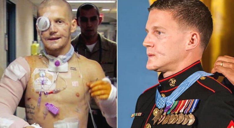 동료 구하려고 몸 던져 수류탄 맞은 군인에게 미국에서 해주는 '예우'