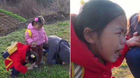 아빠가 병원에 입원한 줄 알았던 6살 꼬마가 처음 찾아간 '무덤' (영상)