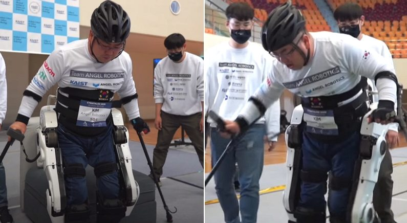 """""""로봇 다리 신고 일어서서 걸었다"""" 하반신 마비 장애 딛고 '세계 1위' 거머쥔 대한민국 선수"""