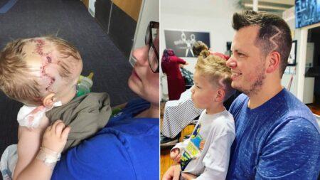 친구들 앞에서 수술 흉터 창피해하는 5살 아들 위해 아빠가 준비한 선물