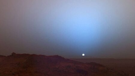 화성의 노을은 이렇게 파란색이다