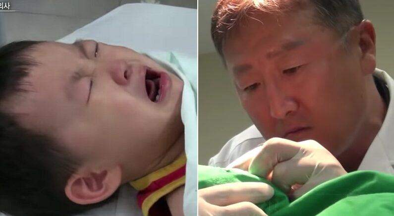 병원 무서워 엉엉 우는 3살 아기를 베테랑 의사 선생님이 능숙하게 달래는 방법 (영상)