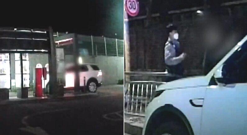 놓고 간 햄버거 찾으러 제 발로 돌아온 음주운전자의 최후 (영상)