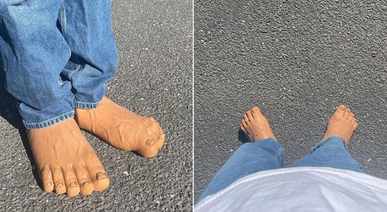 친구랑 만나기로 했는데 친구가 이런 신발 신고 나오면 당신은 어떻게 하시겠습니까?