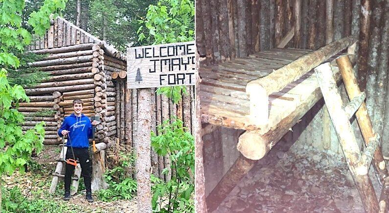 코로나로 등교 안 하는 동안 가족 위해 지하 벙커 딸린 '나무 요새' 지은 고등학생