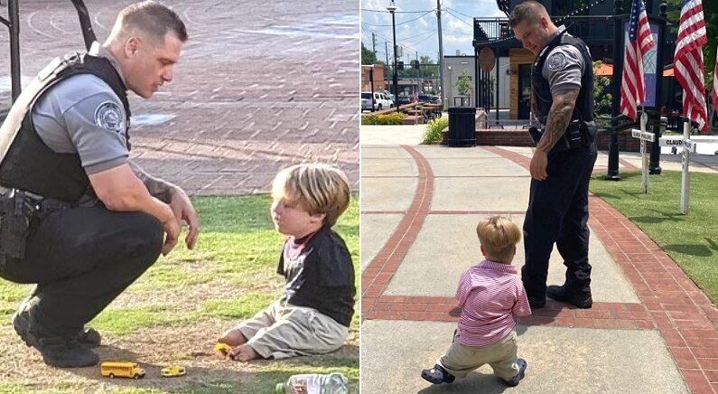 """팔다리 없이 태어난 6살 꼬마가 """"형사가 되고 싶어요"""" 말하자, 매주 1대1 과외해주는 경찰관"""