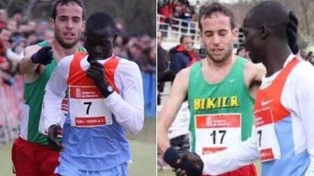 세계대회서 2등으로 달리던 선수가 1등 선수 등 떠밀며 먼저 결승선 통과하게 한 이유