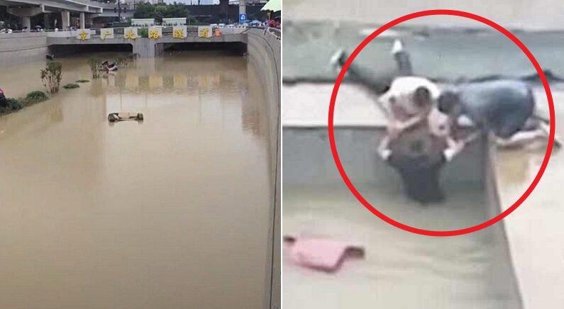 수천명 익사했다고 추정되는 중국 터널 침수사고에서 탈출한 생존자의 증언