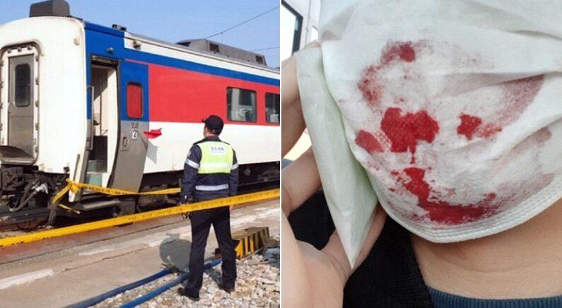 무궁화호 탔다가 화장실에 격리된 승객이 올린 사진