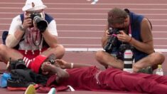 남자 높이뛰기 결승에서 신기록 쏟아진 데 한몫했다는 '안방쿵야' 카타르 선수 (영상)