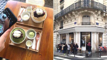 """""""대기줄 생길 만큼 현지인들한테 인기 많다""""는 프랑스 파리에 있는 한국식 빙수 카페"""