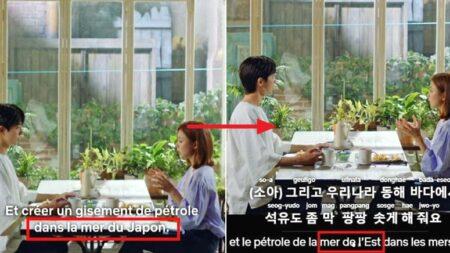 프랑스 자막에서 '일본해' 아니라 '동해'라고 고친 넷플릭스