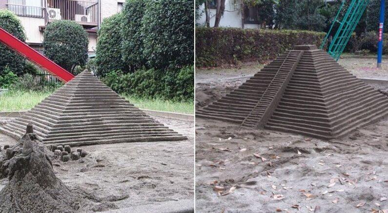 """""""누가 집 앞 놀이터에 모래로 피라미드 만들고 갔어요"""""""