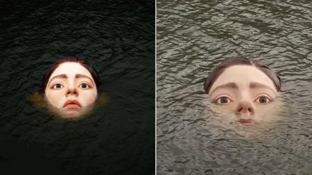 창백하고 무표정한 모습으로 강물에 떠올라 시민들 공포로 몬 서양인 얼굴의 정체